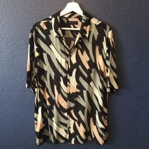 ALL SAINTS Rope Slim Fit Short Sleeve Sport Shirt
